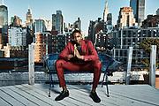 New York Knicks guard RJ Barrett photographed in NYC for Indochino. (Photo by Johnnie Izquierdo/Indochino)