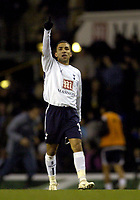Photo: Olly Greenwood.<br />Tottenham Hotspur v Cardiff City. The FA Cup. 17/01/2007. Tottenham's Aaron Lennon celebrates scoring