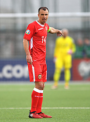 Gibraltar's Roy Chipolina during the UEFA Euro 2020 Qualifying, Group D match at the Victoria Stadium, Gibraltar.