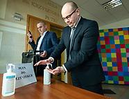 Konferencja prasowa władz woj. podlaskiego ws. epidemii koronawirusa