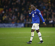 Everton's Romelu Lukaku looks on dejected during the Premier League match at Vicarage Road Stadium, London. Picture date December 10th, 2016 Pic David Klein/Sportimage