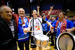 Cvijic Dragana of Krim with fans at last 10th Round handball match of Slovenian Women National Championships between RK Krim Mercator and RK Olimpija, on May 15, 2010, in Galjevica, Ljubljana, Slovenia. Olimpija defeated Krim 39-36, but Krim became Slovenian National Champion. (Photo by Vid Ponikvar / Sportida)