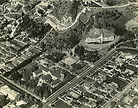 1930 Aerial photo of Immaculate Heart High School and College