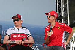 March 16, 2019 - KIMI RAIKKONEN and SEBASTIAN VETTEL attending the F1 Driver Q&A Panel on Qualifying Saturday at the 2019 Formula 1 Australian Grand Prix on March 16, 2019 In Melbourne, Australia (Photo by Christopher Khoury / Australian Press Agency) attending the F1 Driver Q&A Panel on Qualifying Saturday at the 2019 Formula 1 Australian Grand Prix on March 16, 2019 In Melbourne, Australia  (Credit Image: © Christopher Khoury/Australian Press Agency via ZUMA  Wire)