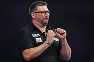 James Wade  wins the second set and celebrates during the World Darts Championships 2018 at Alexandra Palace, London, United Kingdom on 28 December 2018.
