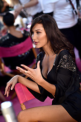 Bella Hadid posing backstage of the 2018 Victoria's Secret Fashion Show on November 8, 2018 in New York City, New York. Photo by Lionel Hahn/ABACAPRESS.COM