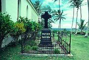 Father Damien gravesite, Kalaupapa, Molokai, Hawaii<br />