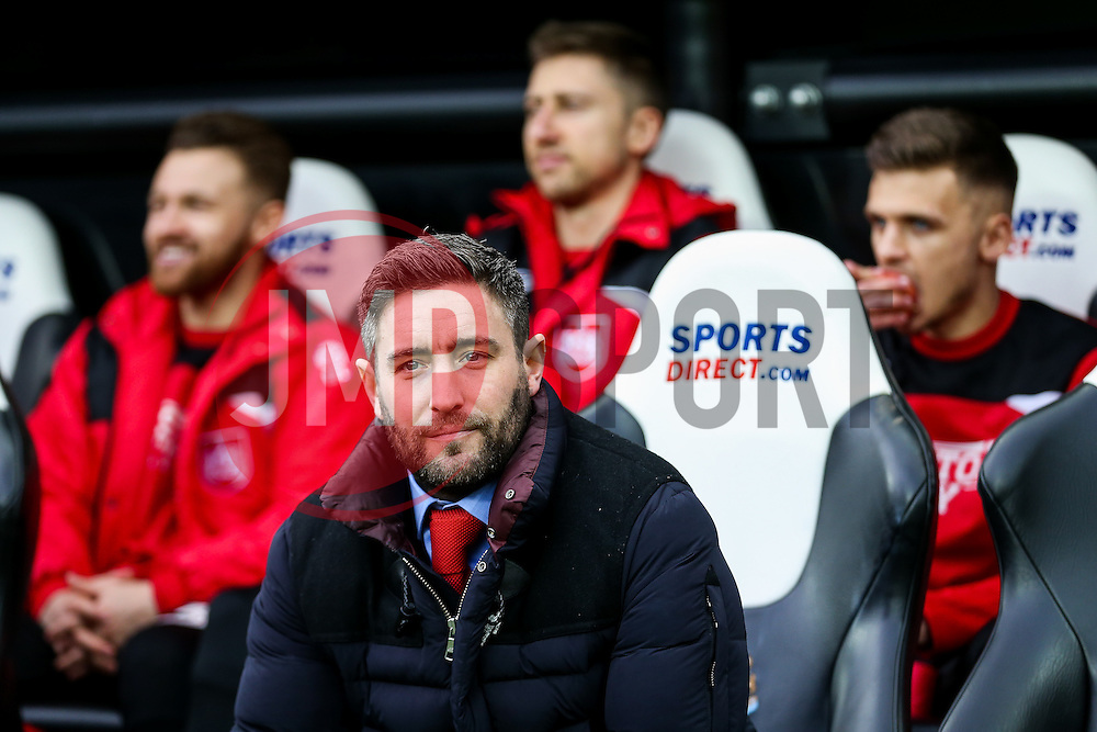 Bristol City manager Lee Johnson - Rogan Thomson/JMP - 25/02/2017 - FOOTBALL - St James' Park - Newcastle, England - Newcastle United v Bristol City - Sky Bet EFL Championship.