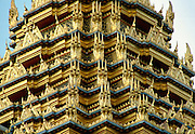 Detail of the Grand Palace, Bangkok, Thailand