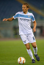 September 20, 2018 - Rome, Lazio, Italy - 20th September 2018, Stadio Olimpico, Rome, Italy; UEFA Europa League football, Lazio versus Apollon Limassol; Lucas Leiva of Lazio controls the ball  Credit: Giampiero Sposito/Pacific Press (Credit Image: © Giampiero Sposito/Pacific Press via ZUMA Wire)