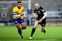 Max Bodilly of Exeter Braves makes a break - Mandatory by-line: Ryan Hiscott/JMP - 16/12/2019 - RUGBY - Sandy Park - Exeter, England - Exeter Braves v Bath United - Premiership Rugby Shield