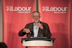 © Licensed to London News Pictures. 15/10/2015. Bristol, UK.  JEREMY CORBYN, leader of the Labour Party, at a rally for Labour Party members at the Trinity Centre in Bristol, to highlight and oppose the impact of the Government's changes to voter registration, expected to remove 1 million voters from the electoral roll by the end of the year. Photo credit : Simon Chapman/LNP