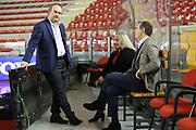 DESCRIZIONE : Roma Lega A 2013-2014 Acea Roma Pallacanestro Cantu<br /> GIOCATORE : Stefano Sacripanti Anna Cremascoli<br /> CATEGORIA : pre game<br /> SQUADRA : Pallacanestro Cantu<br /> EVENTO : Roma Lega A 2013-2014 Acea Roma Pallacanestro Cantu<br /> GARA : Acea Roma Pallacanestro Cantu<br /> DATA : 03/11/2013<br /> SPORT : Pallacanestro <br /> AUTORE : Agenzia Ciamillo-Castoria/M.Simoni<br /> Galleria : Lega Basket A 2013-2014  <br /> Fotonotizia :Roma Lega A 2013-2014 Acea Roma Pallacanestro Cantu<br /> Predefinita :