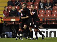 Scott Dobie of Carlisle United celebrates his goal<br /> Bristol City vs Carlisle<br /> Carling Cup Round 2, Ashton Gate, Bristol, UK<br /> 26/08/2009. Credit Colorsport/Dan Rowley<br /> Football