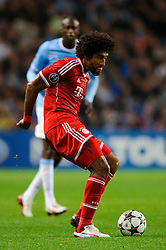 Bayern Defender Dante (BRA) in action during the first half of the match - Photo mandatory by-line: Rogan Thomson/JMP - Tel: Mobile: 07966 386802 - 02/10/2013 - SPORT - FOOTBALL - Etihad Stadium, Manchester - Manchester City v Bayern Munich - UEFA Champions League Group D.