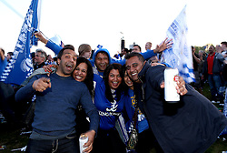 Leicester City supporters celebrate their sides Premier League title win - Mandatory by-line: Robbie Stephenson/JMP - 16/05/2016 - FOOTBALL - Leicester City FC, Barclays Premier League Winners 2016 - Leicester City Victory Parade