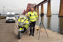 Inspector Ian Paul with the camera and Bike<br /> <br /> (c) David Wardle   Edinburgh Elite media