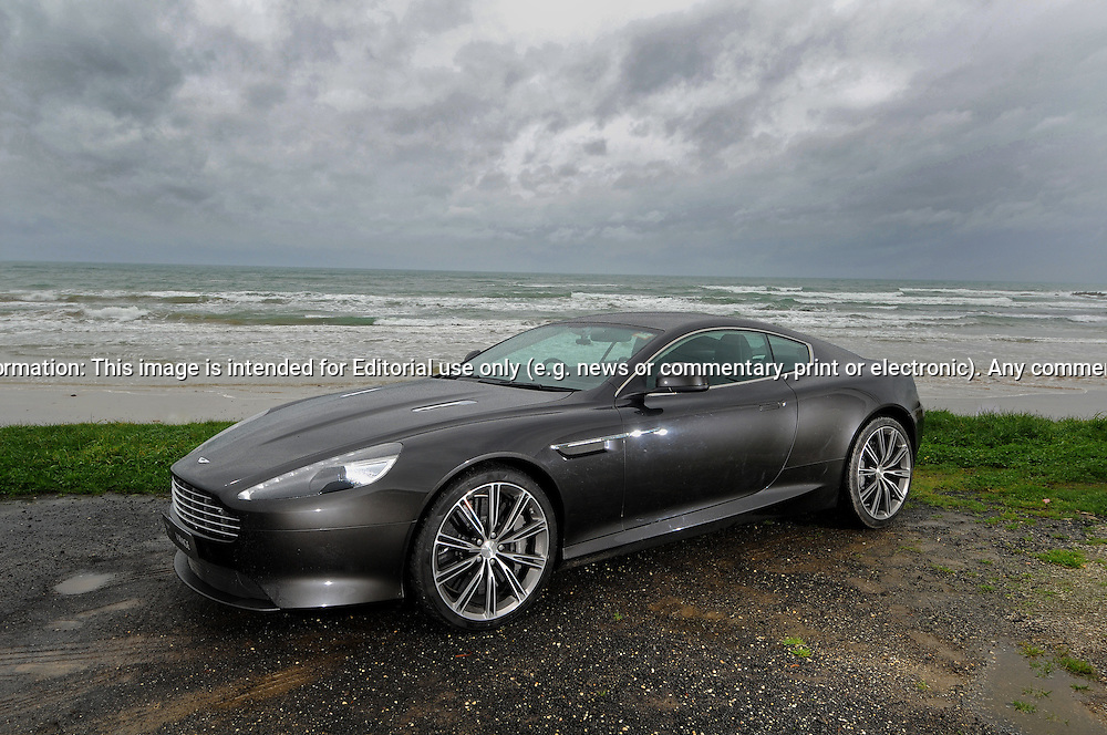 2011 Aston Martin Virage Coupe - Quantum Silver.Great Ocean Road, Melbourne.10th of August 2011.(C) Joel Strickland Photographics.Use information: This image is intended for Editorial use only (e.g. news or commentary, print or electronic). Any commercial or promotional use requires additional clearance.