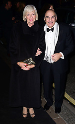 David Suchet and Shelia Ferris  arriving at the London Evening Standard Theatre Awards in London, Sunday, 17th November 2013. Picture by Nils Jorgensen / i-Images