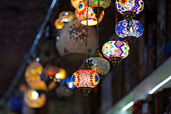 BAKU, AZERBAIJAN - Saturday, November 16, 2019: Lights on sale in the Old City of Baku pictured before the UEFA Euro 2020 Qualifying Group E match between Azerbaijan and Wales at the Bakcell Arena. (Pic by David Rawcliffe/Propaganda)