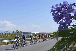 October 10, 2018 - Antalya, Turkey - Peloton during the second stage - the Sportoto 154.1km Alanya - Antalya, of the 54th Presidential Cycling Tour of Turkey 2018. .On Wednesday, October 10, 2018, in Antalya, Turkey. (Credit Image: © Artur Widak/NurPhoto via ZUMA Press)