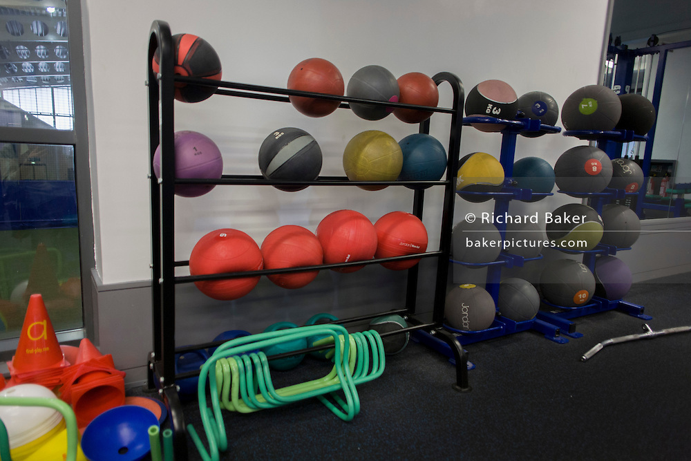 Gym equipment at the Sports Institute, University of Ulster, Northern Ireland.