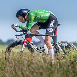 EMMEN (NED) June 16: <br />CYCLING <br />Dutch Nationals Time Trail men U23 Guillaume Visser