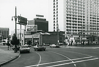1971 Looking south down Highland Ave from Franklin Ave.