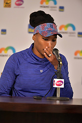 March 23, 2018 - Key Biscayne, Florida, United States Of America - KEY BISCAYNE, FL -MARCH 23:(EXCLUSIVE COVERAGE) Venus Williams attends a press conference after her win on day 5 of the Miami Open at Crandon Park Tennis Center on March 23, 2018 in Key Biscayne, Florida. ...People:  Venus Williams. (Credit Image: © SMG via ZUMA Wire)