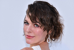 File photo of Milla Jovovich attends the amfAR Cannes Gala 2019 at Hotel du Cap-Eden-Roc on May 23, 2019 in Cap d'Antibes, France. Actress Milla Jovovich has revealed she is pregnant again for a third time, after suffering a loss during her last pregnancy 'due to her age'. Photo by Lionel Hahn/ABACAPRESS.COM