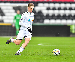George Byers of Swansea City in action - Mandatory by-line: Craig Thomas/Replay images - 18/03/2018 - FOOTBALL - Liberty Stadium - Swansea, England - Swansea City U23 v Manchester United U23 - Premier League 2 - Divison 1