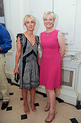 Left to right, SAHAR HASHEMI and JO MALONE at a party to celebrate the launch of Page One an online guide to London's 100 most rewarding restaurants held at the Halcyon Gallery, Bruton Street, London on 7th July 2010.