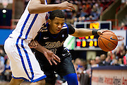DALLAS, TX - JANUARY 6:  Pat Swilling Jr. #2 of the Tulsa Golden Hurricane drives to the basket against the SMU Mustangs on January 6, 2013 at Moody Coliseum in Dallas, Texas.  (Photo by Cooper Neill/Getty Images) *** Local Caption *** Pat Swilling Jr.