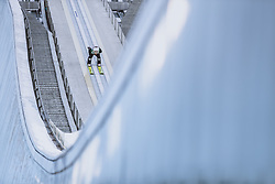 01.01.2021, Olympiaschanze, Garmisch Partenkirchen, GER, FIS Weltcup Skisprung, Vierschanzentournee, Garmisch Partenkirchen, Einzelbewerb, Herren, im Bild Vladimir Zografski (BUL) // Vladimir Zografski of Bulgaria during the men's individual competition for the Four Hills Tournament of FIS Ski Jumping World Cup at the Olympiaschanze in Garmisch Partenkirchen, Germany on 2021/01/01. EXPA Pictures © 2020, PhotoCredit: EXPA/ JFK