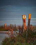 Z Crossing Tank Crossing on the Salisbury Plain Army Training Area illuminated by the rising sun.