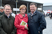Dr Frank O'Mara Director of Research Teagasc, Mairead McGuinness MEP and John O'Mahony TD attending 'SHEEP2015', the major National Sheep Open Day hosted by Teagasc at Athenry on Saturday. Photo:- Andrew Downes / xposure.ie  No Fee. Issued on behalf of Teagas