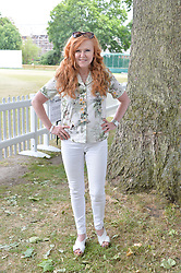 CAROL DECKER at the Flannels For Heroes cricket competition in association with Dockers held at Burton Court, Chelsea, London on 19th June 2015