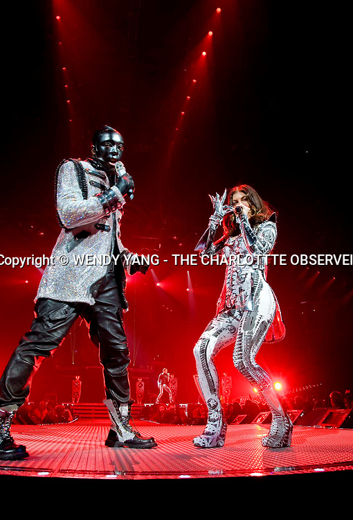 """will.i.am and Fergie of the Black Eyed Peas performed Saturday night at Time Warner Cable Arena in Charlotte, NC. """"The E.N.D. World Tour 2010"""" featured LMFAO. WENDY YANG - wyang@charlotteobserver.com"""