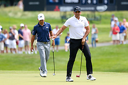June 22, 2018 - Cromwell, Connecticut, United States - Jason Day waves to the gallery after putting the 8th green during the second round of the Travelers Championship at TPC River Highlands. (Credit Image: © Debby Wong via ZUMA Wire)