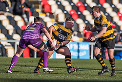 Newport's Garin Harris in action  - Mandatory by-line: Craig Thomas/Replay images - 04/02/2018 - RUGBY - Rodney Parade - Newport, Wales - Newport v Ebbw Vale - Principality Premiership