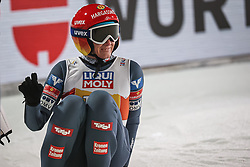 28.02.2021, Oberstdorf, GER, FIS Weltmeisterschaften Ski Nordisch, Oberstdorf 2021, Mixed Teambewerb, Skisprung HS106, im Bild Daniela Iraschko (AUT) // Daniela Iraschko (AUT) during the ski jumping HS106 mixed team competition of FIS Nordic Ski World Championships 2021 in Oberstdorf, Germany on 2021/02/28. EXPA Pictures © 2021, PhotoCredit: EXPA/ Tadeusz Mieczynski