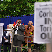 London,England,UK : 27th June 2016 : Speaker Mo Azam addresses the crowd KeepCorbyn protest against coup and Build our movement  at Parliament Square, London,UK. photo by See Li