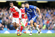 Diego Costa of Chelsea in action. Premier league match, Chelsea v Arsenal at Stamford Bridge in London on Saturday 4th February 2017.<br /> pic by John Patrick Fletcher, Andrew Orchard sports photography.