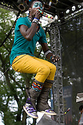 Sunday, August 3, 2008; Saul Williams performs at Lollapalooza 2008.<br /> Photo by Bryan Rinnert
