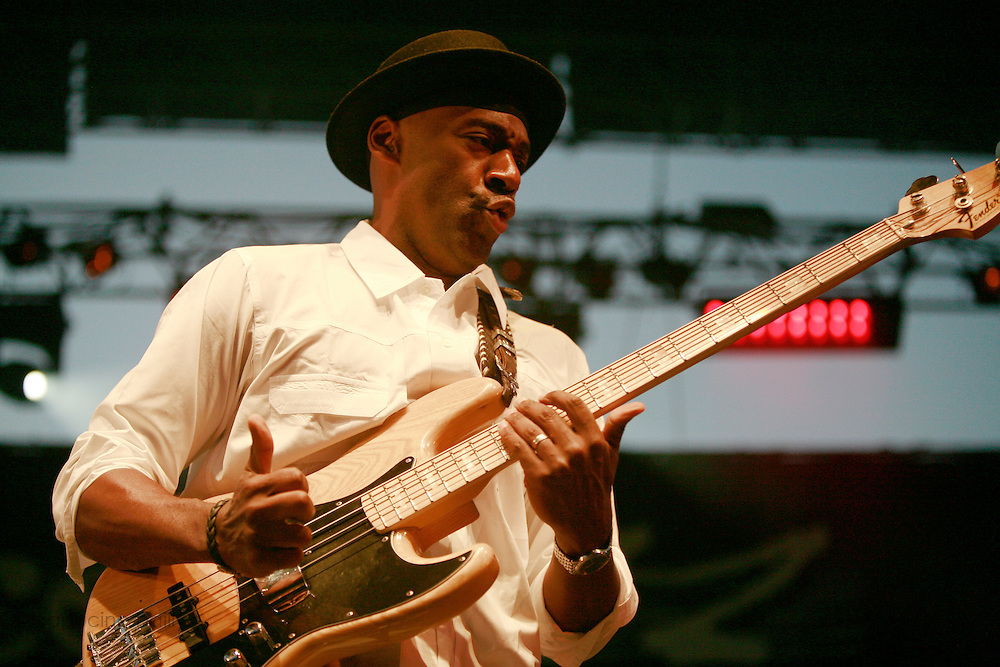 Cimiez-Nice, France. July 19th 2007.Marcus Miller performs at the Nice jazz Festival.