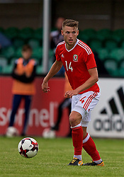 RHYL, WALES - Monday, September 4, 2017: Wales' Brandon Cooper during an Under-19 international friendly match between Wales and Iceland at Belle Vue. (Pic by Paul Greenwood/Propaganda)