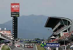FORMEL 1: GP von Spanien, Barcelona, 27.04.2008 <br /> Start, Illustration, Rennstrecke <br /> © pixathlon