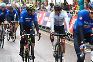Men Road Race 230,4 km, Matteo Trentin (Italy), Greg Van Avermaet (Belgium), during the Cycling European Championships Glasgow 2018, in Glasgow City Centre and metropolitan areas, Great Britain, Day 11, on August 12, 2018 - Photo Luca Bettini / BettiniPhoto / ProSportsImages / DPPI - Belgium out, Spain out, Italy out, Netherlands out -
