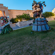 """""""The Four Seasons"""" sculptures by artist Philip Haas, on display at Kansas City's Nelson Atkins Museum of Art in August 2015."""