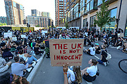 May 31, 2020, London, England, United Kingdom: Thousands of protestors marched from Trafalgar Square to the US embassy in South London, to protest against the killing of an unarmed black man by police in the US. Sunday, May 31, 2020. (Credit Image: © Vedat Xhymshiti/ZUMA Wire)